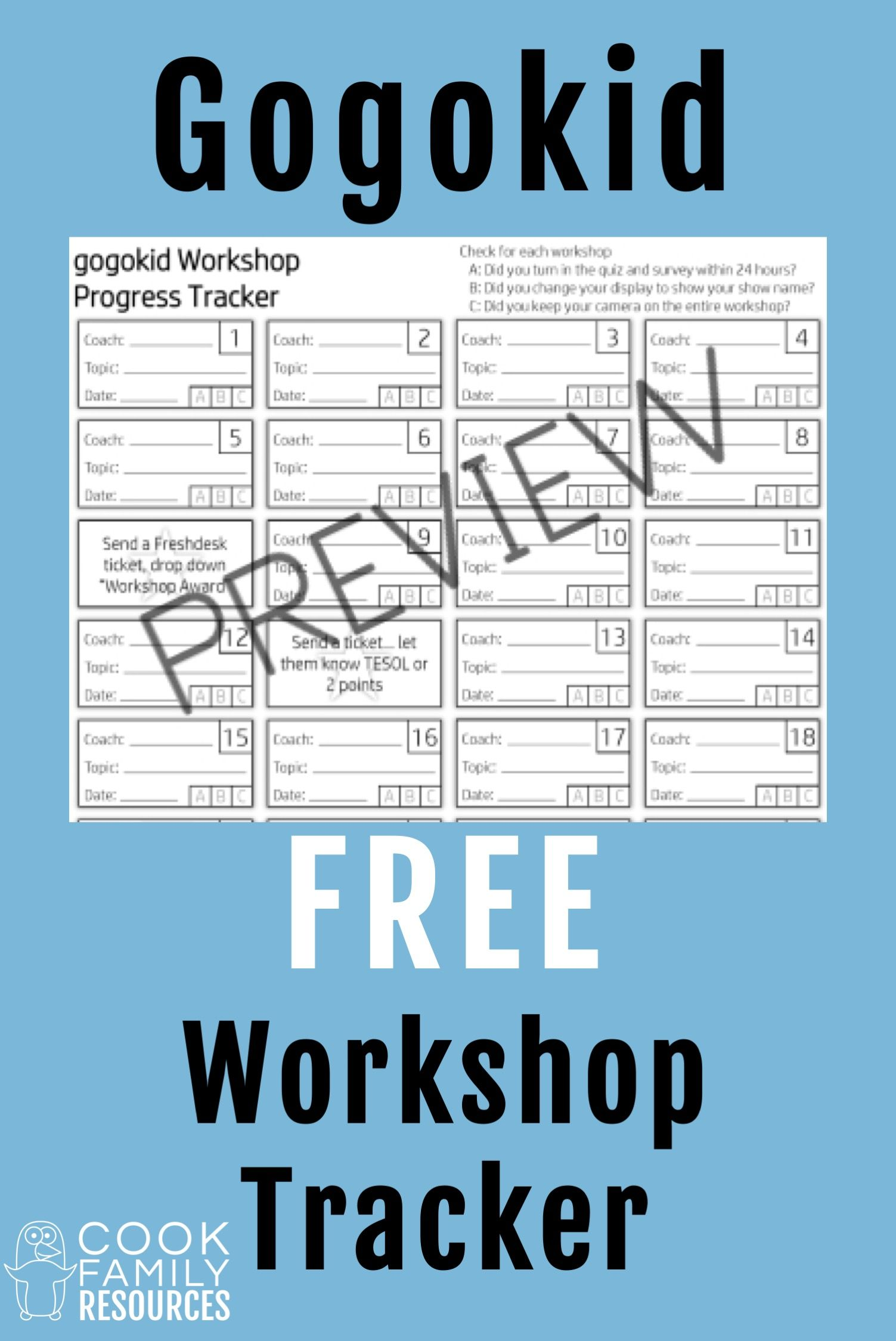 Gogokid Workshop Progress Tracker