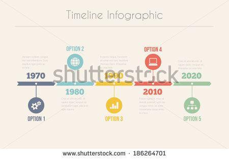 Retro Timeline Infographic, Vector design template - stock vector ...