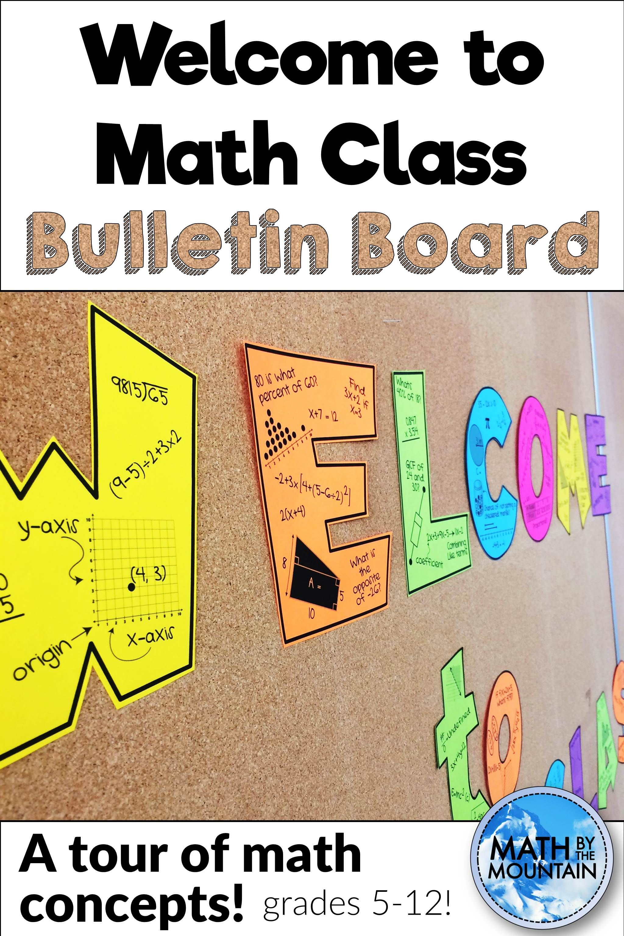 Bulletin Board to Math Class Middle school