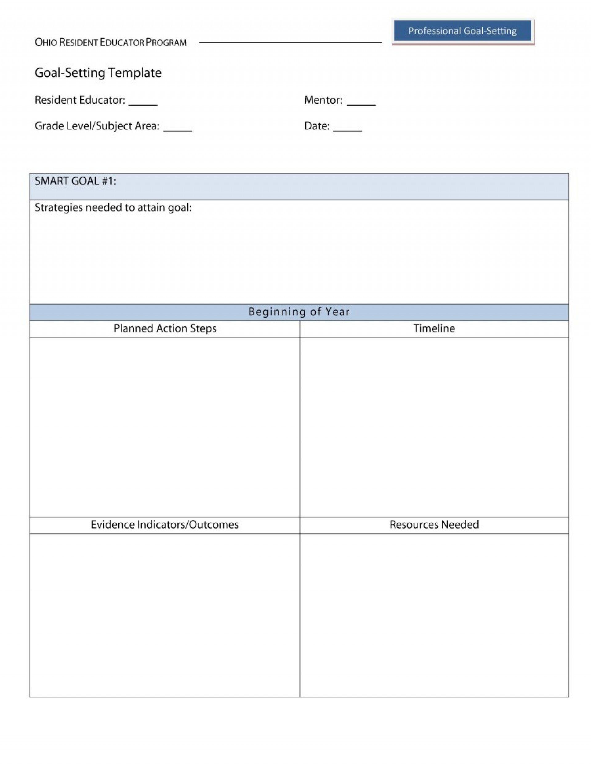 Inspirational Smart Goal Setting Worksheet