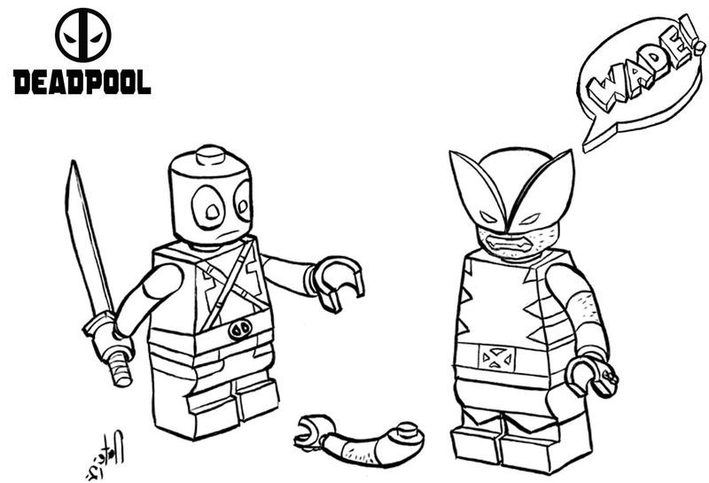 Funny Lego Deadpool Coloring Pages. Also see the category