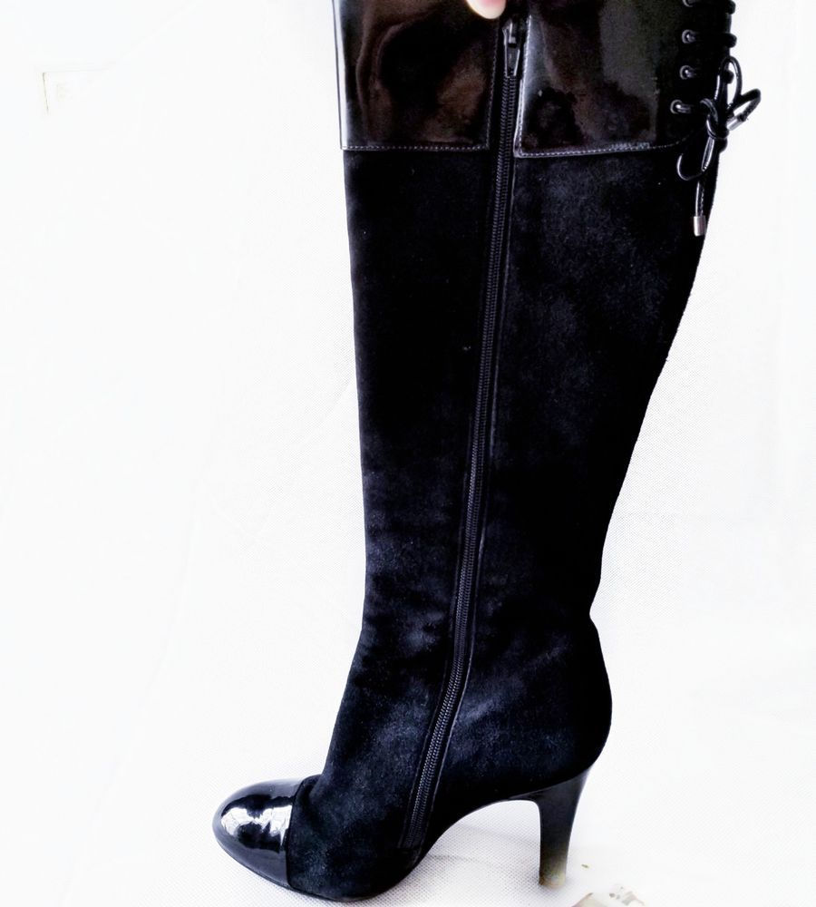 65642f29dd3 Bcbg Girls women s size 7 M boots tall two tone black suede leather knee  high  fashion  clothing  shoes  accessories  womensshoes  boots (ebay link)
