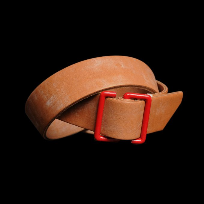 RED S BUCKLE OAK BARK LEATHER   $245.00