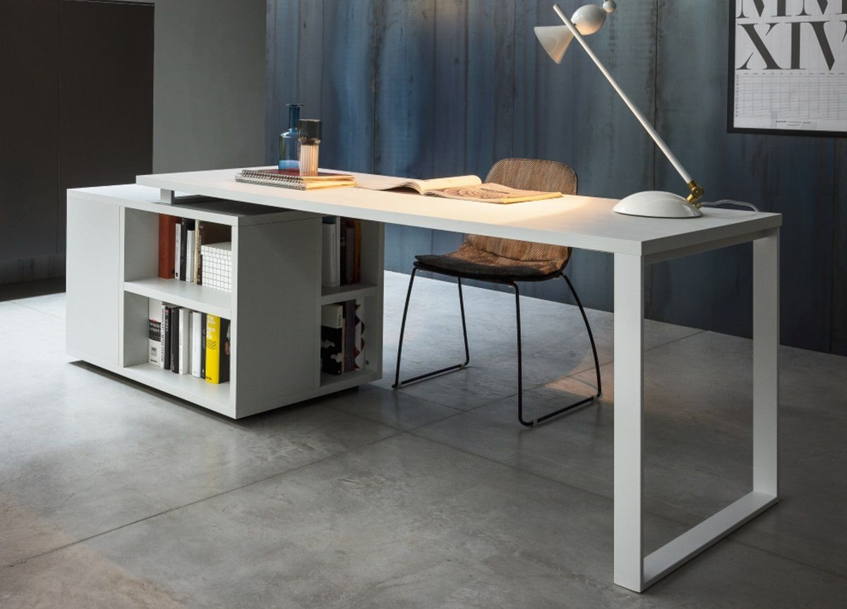 Isola Home Office Desk In 2020 Modern Home Office Desk Modern Office Desk Modern Home Office Furniture
