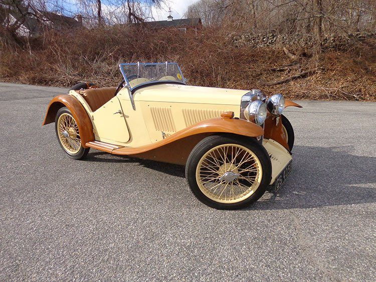 1933 MG J2. Old school! Kind of reminds me of the Happiest