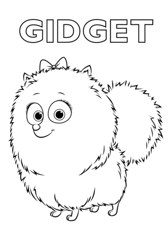 Gidget From The Secret Life Of Pets Coloring Page From The Secret Life Of Pets Category Select From 25238 Printable Cra Pets Drawing Coloring Pages Pets Movie