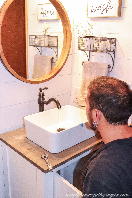 How to Install a Vanity & Vessel Sink Combo Vessel sink
