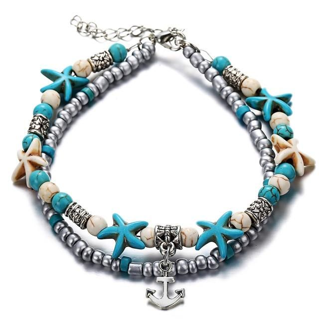 Fashion Double Layer Anklet for Fashionistas. Gift for Best Friend, Wife, Mom, Aunties, Daughters. Anklet Jewelry with Animal Pendants   3 Gallery