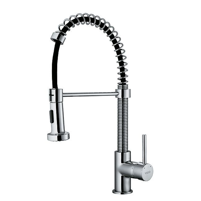 $183.60 Modern Pull-Out Spiral Kitchen Faucet VG02001CH by Vigo ...