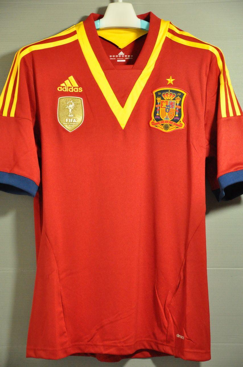 Spain national football team Home Jersey Shirt Euro Champion