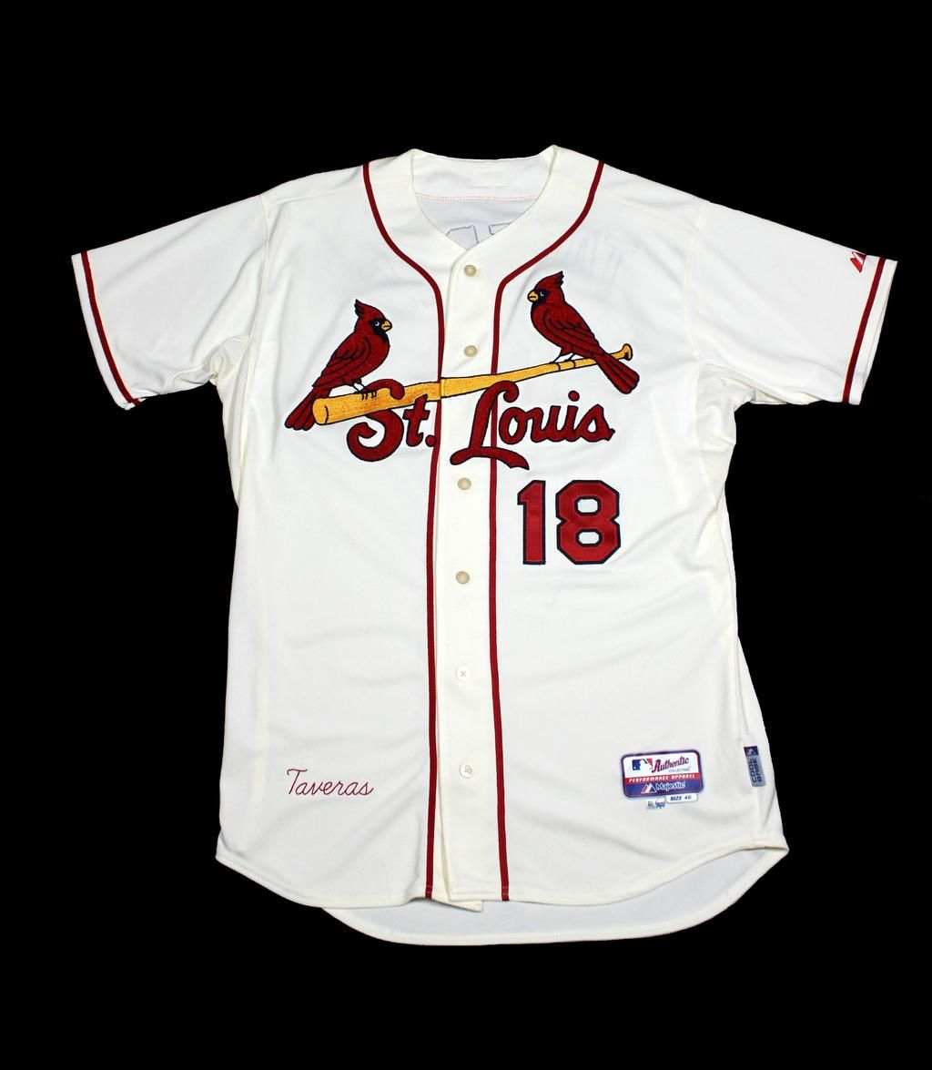 Remembering that first long ball. From the #CardsMuseum, Oscar Taveras' jersey from his May 31, 2014 MLB debut.