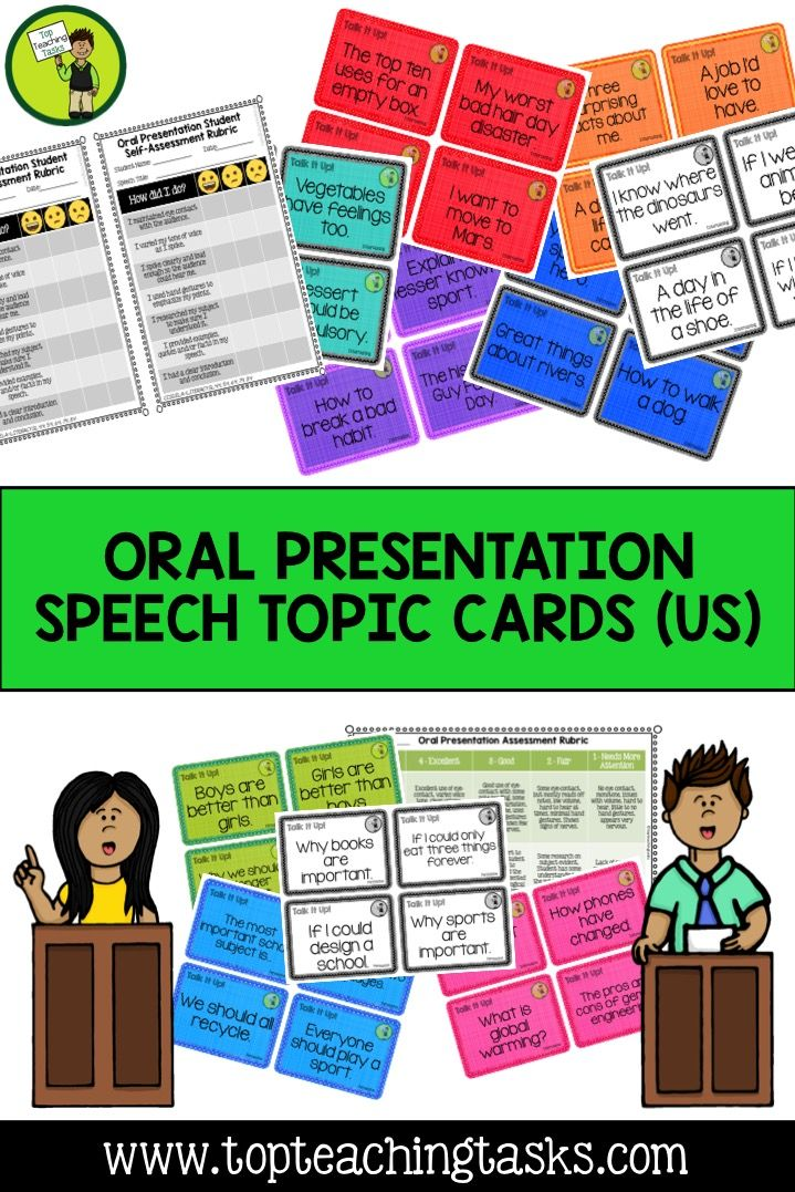 topic cards for public speaking oral presentations usa  108 topic cards for public speaking oral presentations usa