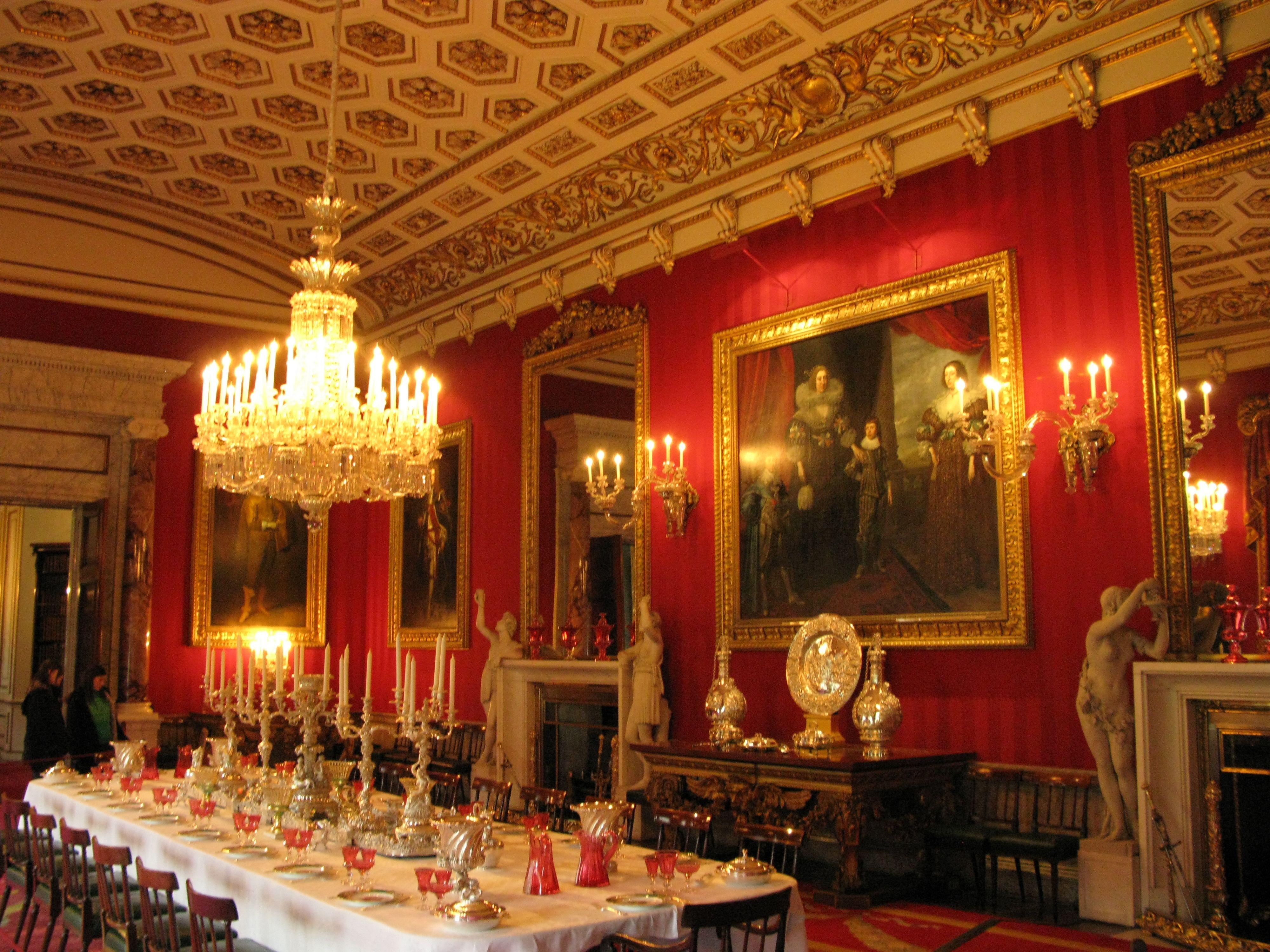 Chatsworth House interior furniture design rooms \