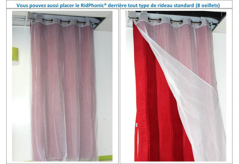 rideau anti bruit porte dentre great simple tringle rideau porte entre nouveau rideau isolant. Black Bedroom Furniture Sets. Home Design Ideas