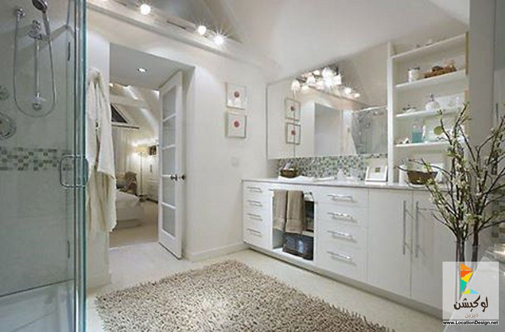 ديكورات حمامات حديثة صغيرة المساحة With Images Bathroom Design Small Bathroom Tile Designs Unique Bathroom Design