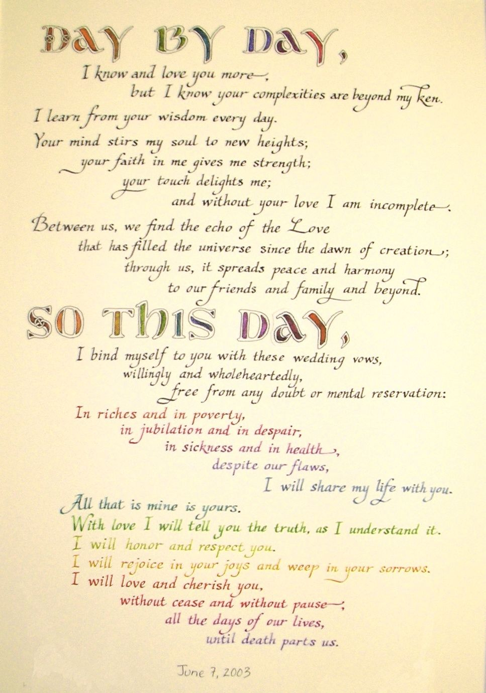 Wedding Vow Samples Writing Your Own Vows Special