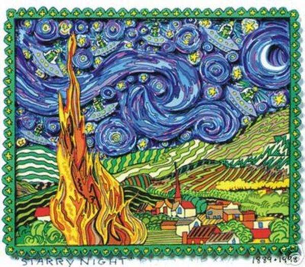The Hittyville Gazette James Rizzi Sternenklare Nacht Kunst Bilder