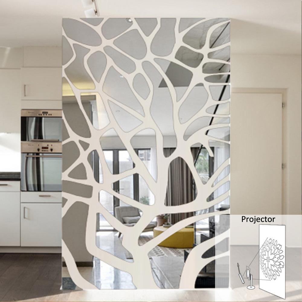 Splice Mirror Wall Stickers Mirror Design Wall Mirror Wall Decor Mirror Wall Stickers