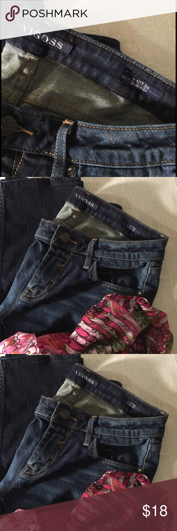 Jeans by Vigoss These jeans by Vigoss are very comfortable to small for me now so time to find a new owner non smoking home bundle two or more and save 30% thanks for shopping today 🌷🌷🌻🌻🌷🌷 Vigoss Jeans Straight Leg