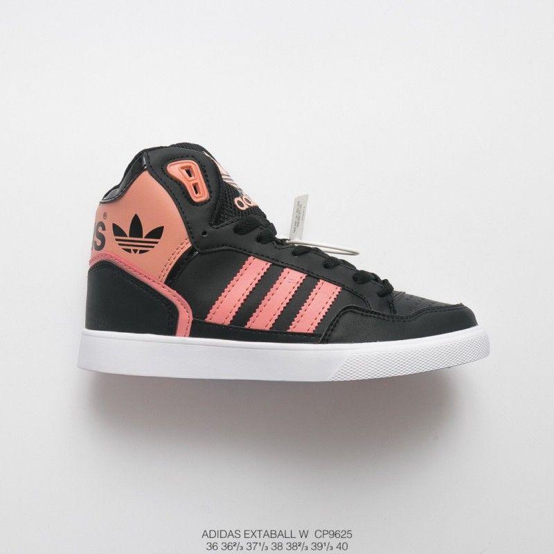 Adidas Originals Extaball White High Top Trainers,CP9625 FSR