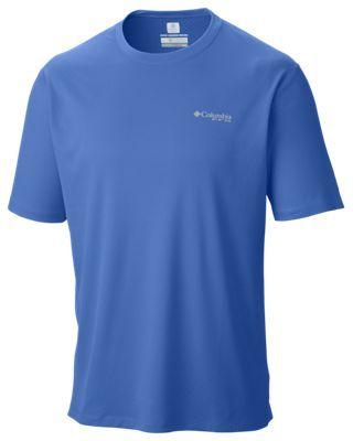 34b3fd72d79 Columbia PFG Zero Rules Short Sleeve Shirt for Men - Vivid Blue - 2XL