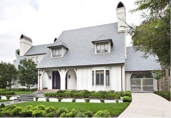 Combination Of Slate Roof White Brick Beverly Hills Houses Tudor House Tudor Style Homes