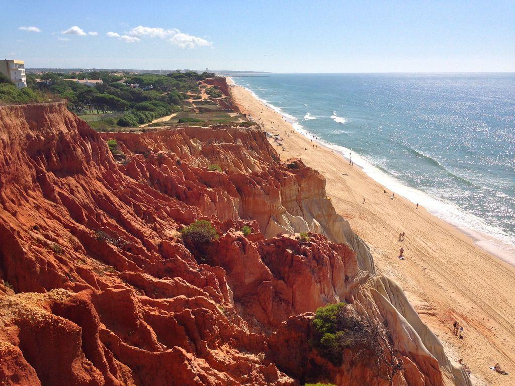 Praia Da Falesia Albufeira Portugal Beautiful Places In The World Beautiful Places Natural Landmarks