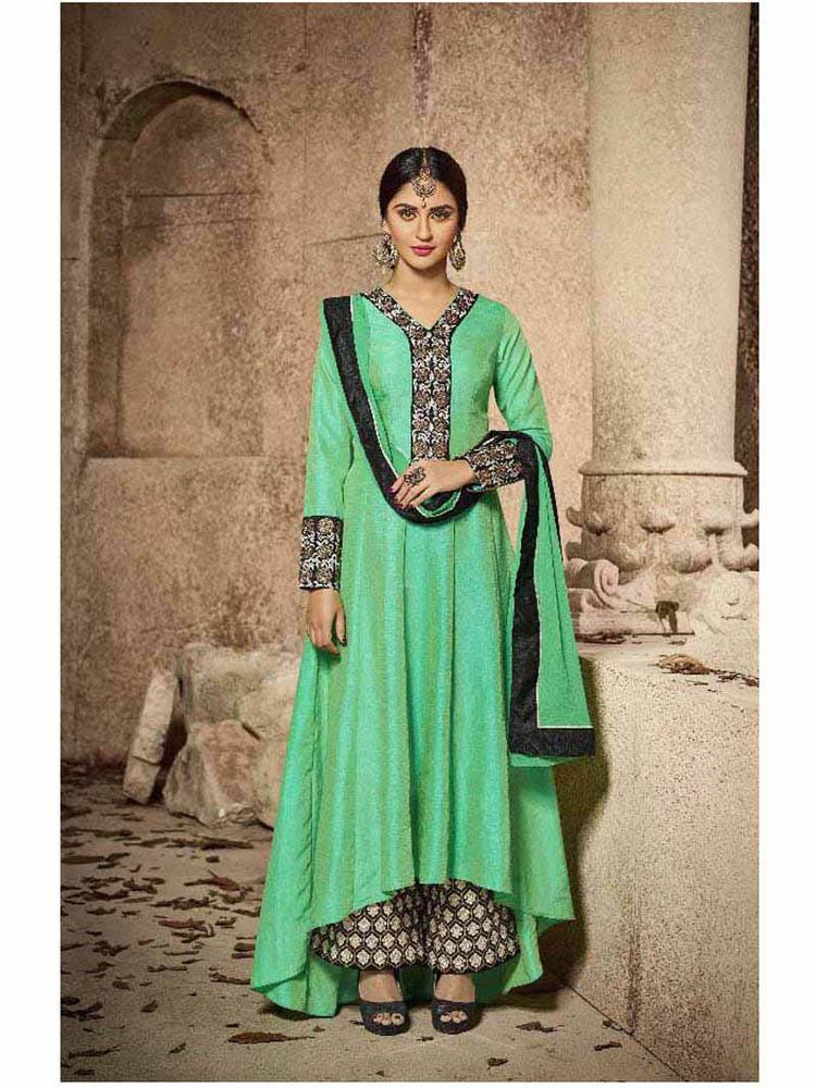 Details about  /Women indian kurta kurti bottom Dress anarkali pakistani palazo bollywood grey