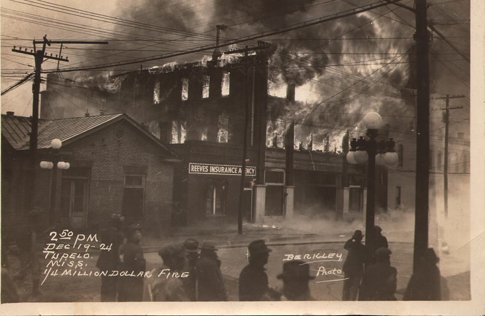 December, 1924, The Million Dollar Fire, Tupelo