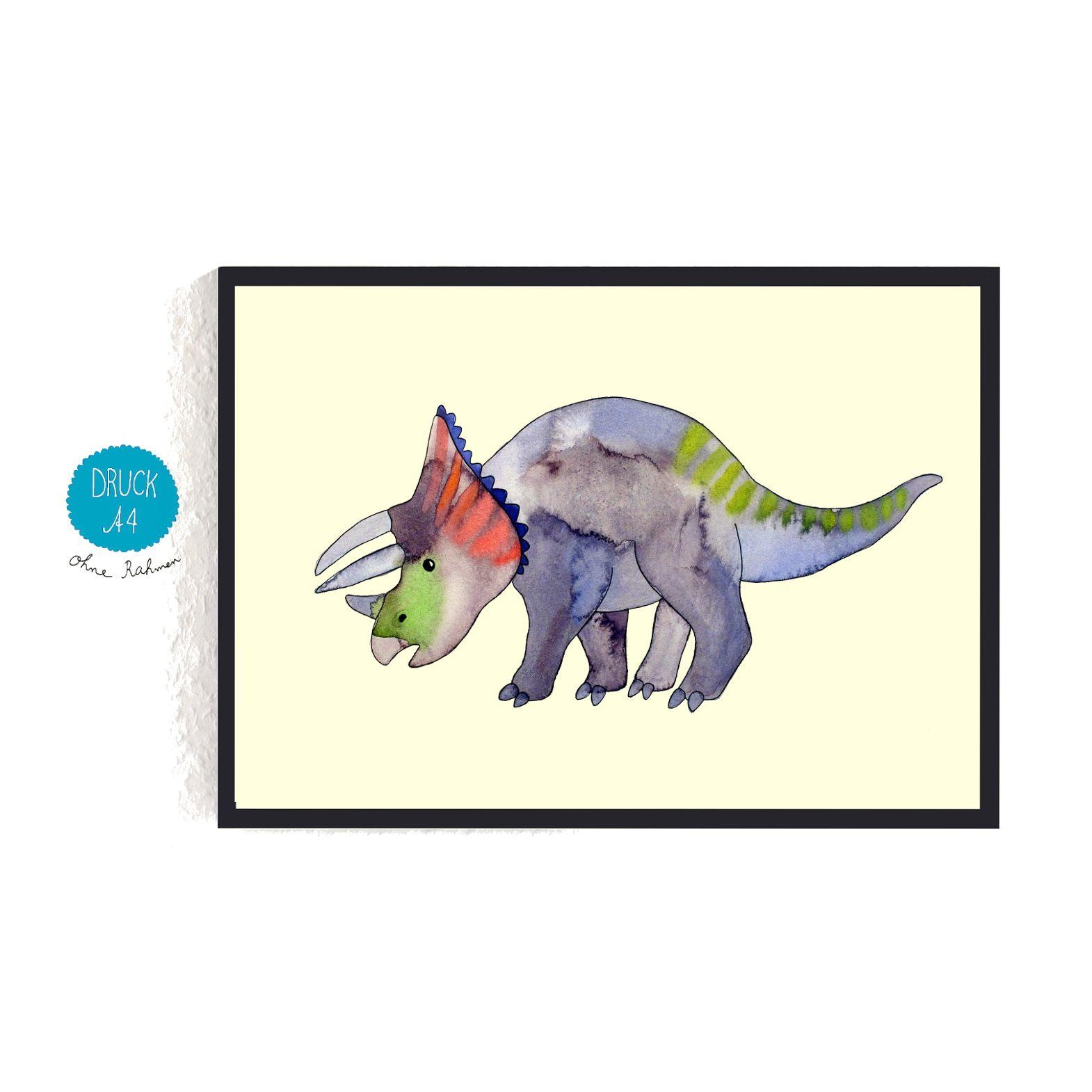 Print *Triceratops* #dino #dinosaurier #kinderzimmer #frauottilie ...