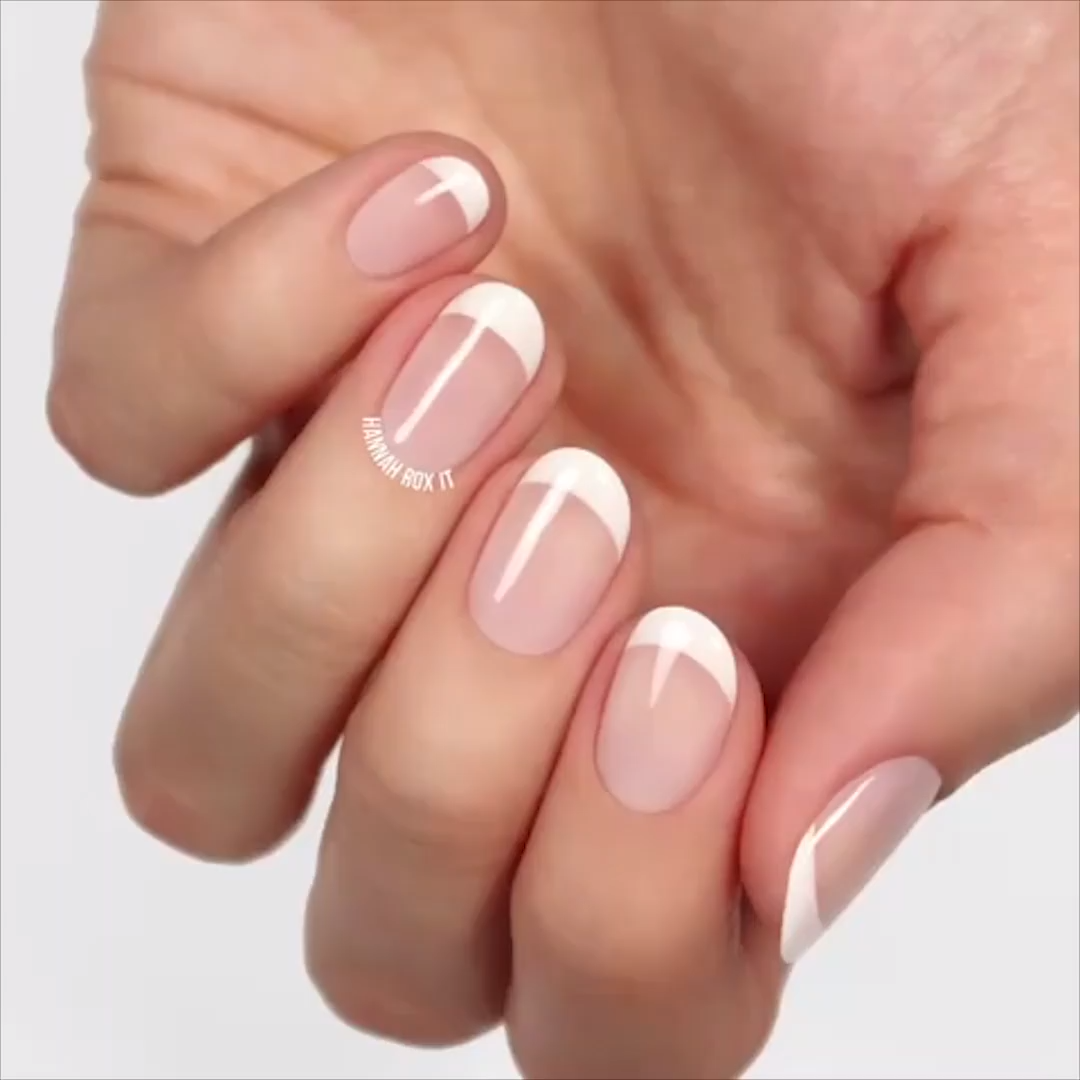 Photo of FRENCH MANICURE –  Beautiful way to create the perfect french manicure! By: Hann…