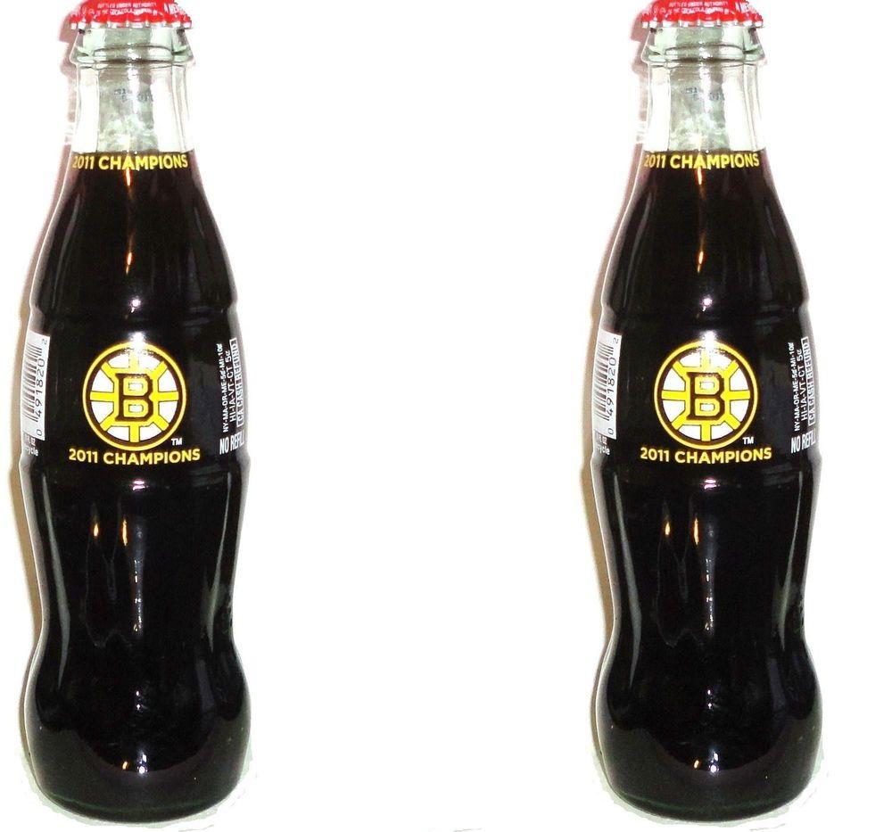 2 Full  ~  BOSTON BRUINS  Coke BOTTLES  ~   2011 Champions  ~  8oz  ~  (my id: o