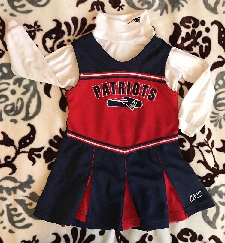 Nfl New England Patriots Dress Cheerleader Sz 4t Uniform Jumper Costume Girls Nfl New England Patriots New England Patriots Cheerleaders Patriots Cheerleaders