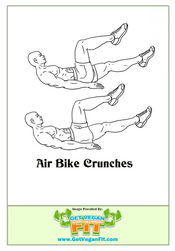 air bike crunches abdominal exercise from home Abdominal