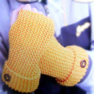 Tejer guantes mitones para principiantes patrones dos - Como hacer punto de lana para principiantes ...