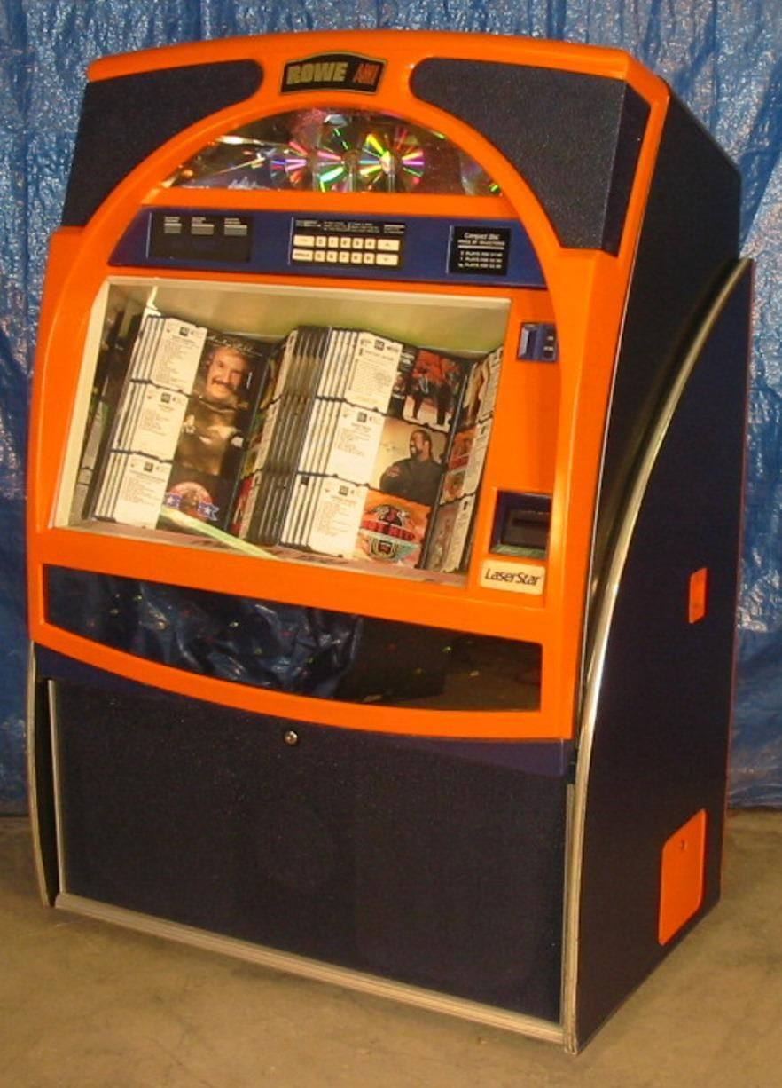 Rowe Cd-100c Jukebox. Bronco's Colors. Clean, Great Sound, Loaded With 100 Cd's