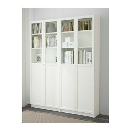 Billy Oxberg Bookcases With Half Glass Doors 339 98 For 2