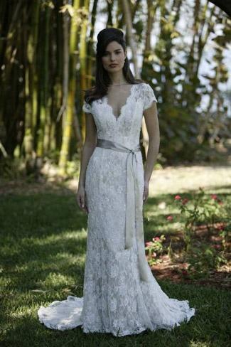 beautiful White/Ivory Lace Short Sleeve Wedding Dress | Wedding ...