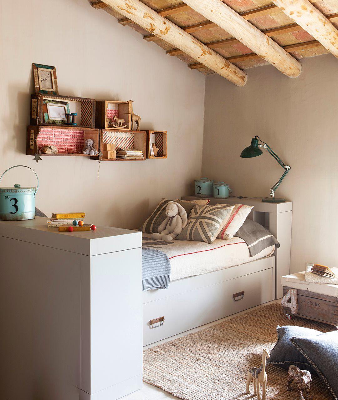 Ideas de almacenaje en habitaciones de ni os - Habitaciones infantiles cama nido ...