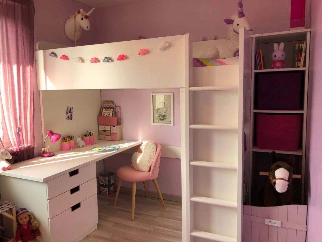 Une petite chambre fille totalement Girly et licorne !  Le blog