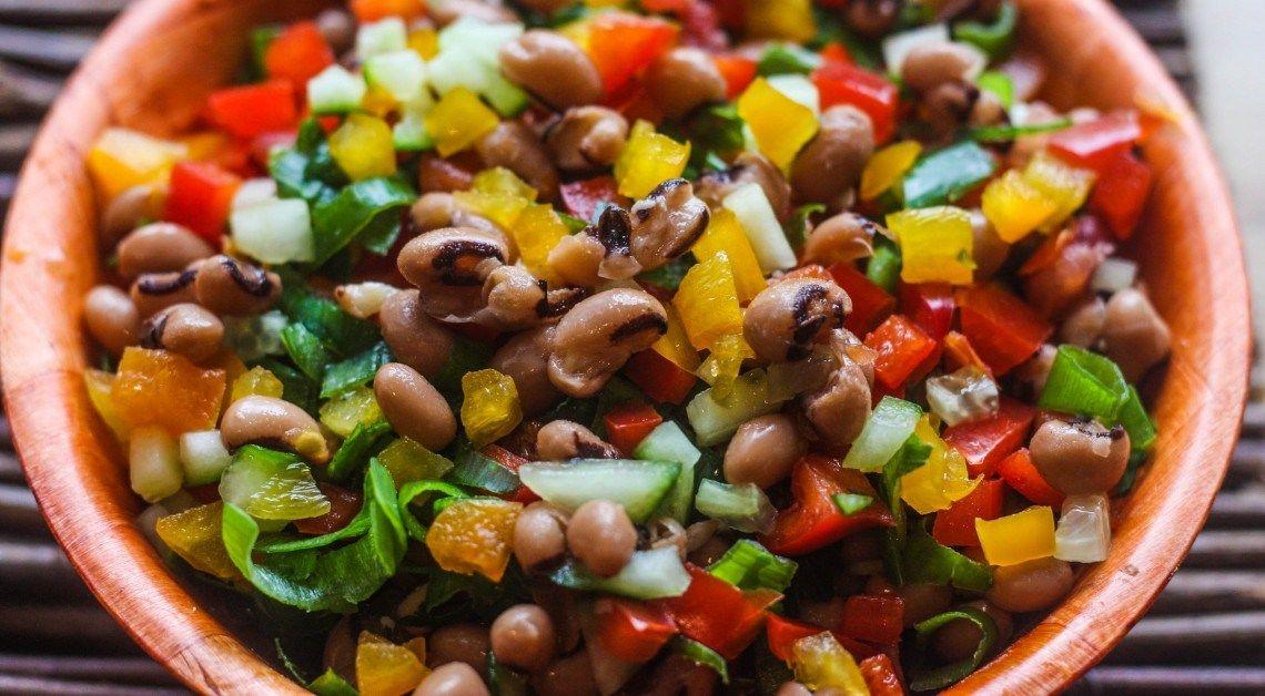 Salatu Niebe Black Eyed Beans Salad Food A Taste Of