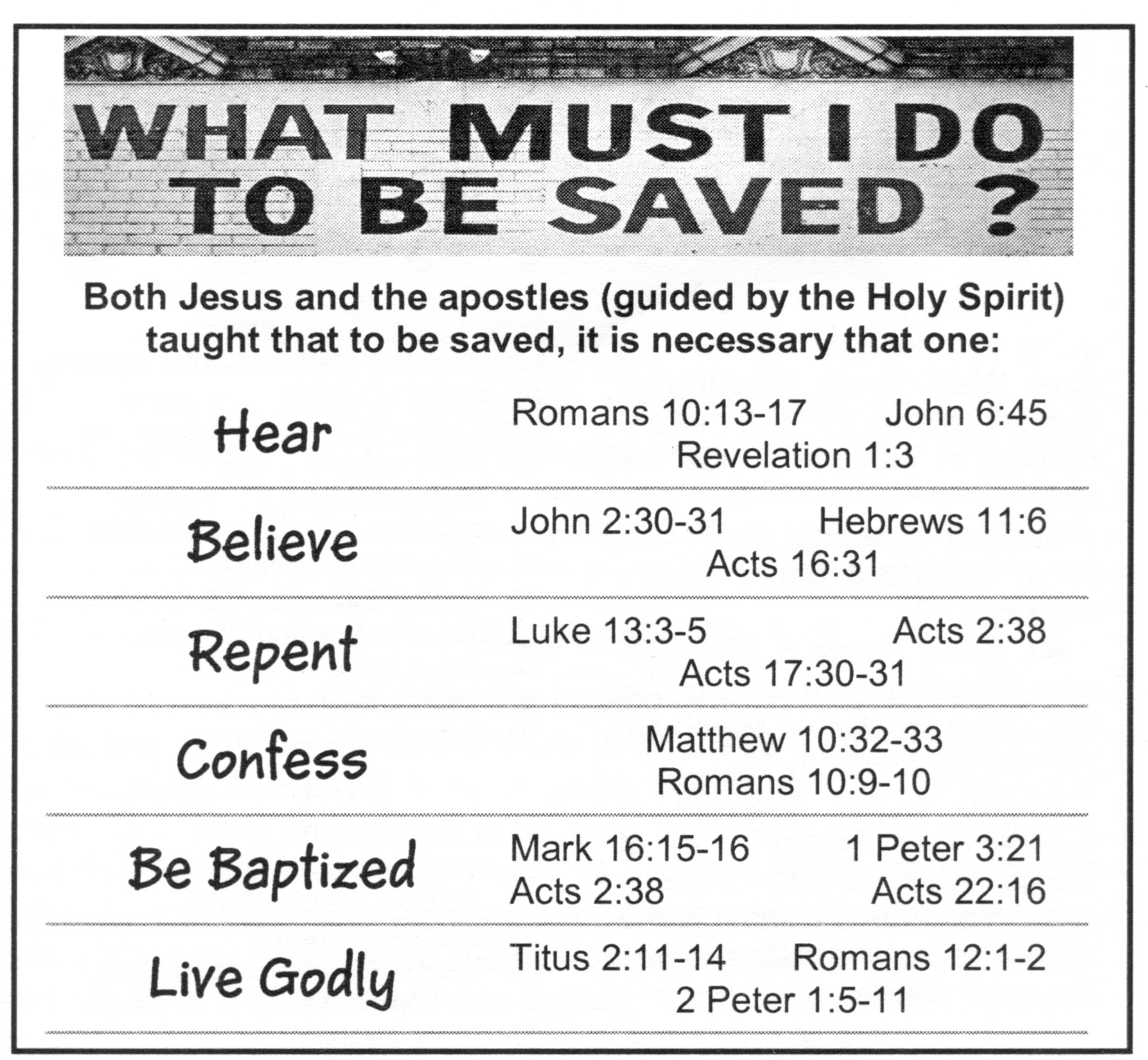 hight resolution of church of christ plan of salvation chart plan of salvation