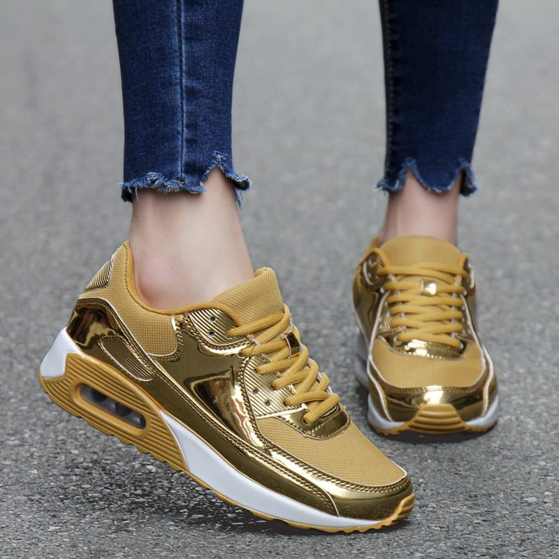 Online Buy Wholesale gold sneakers men from China gold