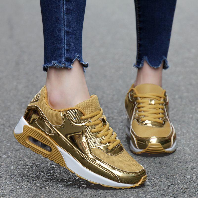 Online Buy Wholesale gold sneakers men