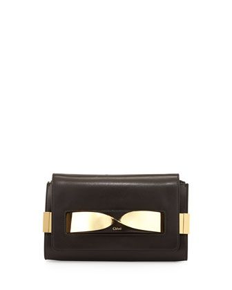 Elle Medium Chain Clutch Bag Black By Chloe At Neiman Marcus