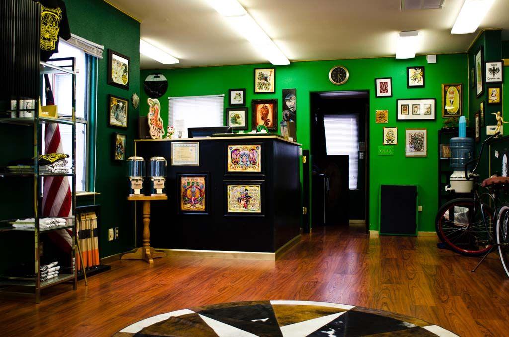 Good luck tattoo shop tattoo shop decor studio interior