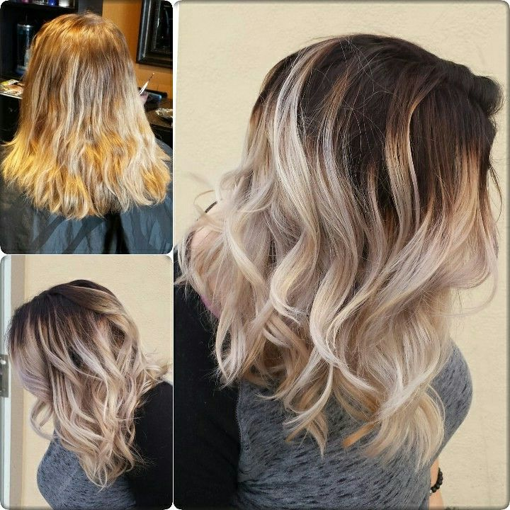 Dark Root Balyage Cool Tones Blonde Hair With Roots Roots Hair Balayage Hair