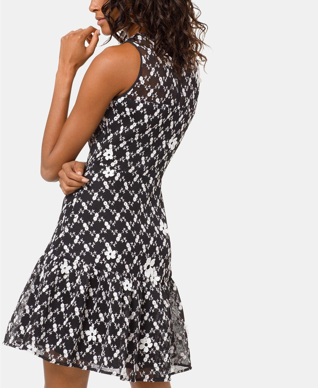 Michael Kors Floral Embroidered Mesh Dress & Reviews - Dresses - Women -  Macy's | Embroidered mesh dress, Mesh dress, Black mesh dress