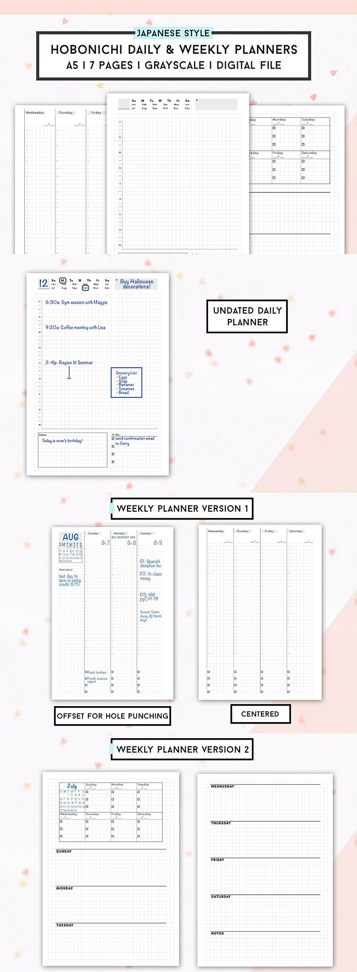 daily weekly planner template