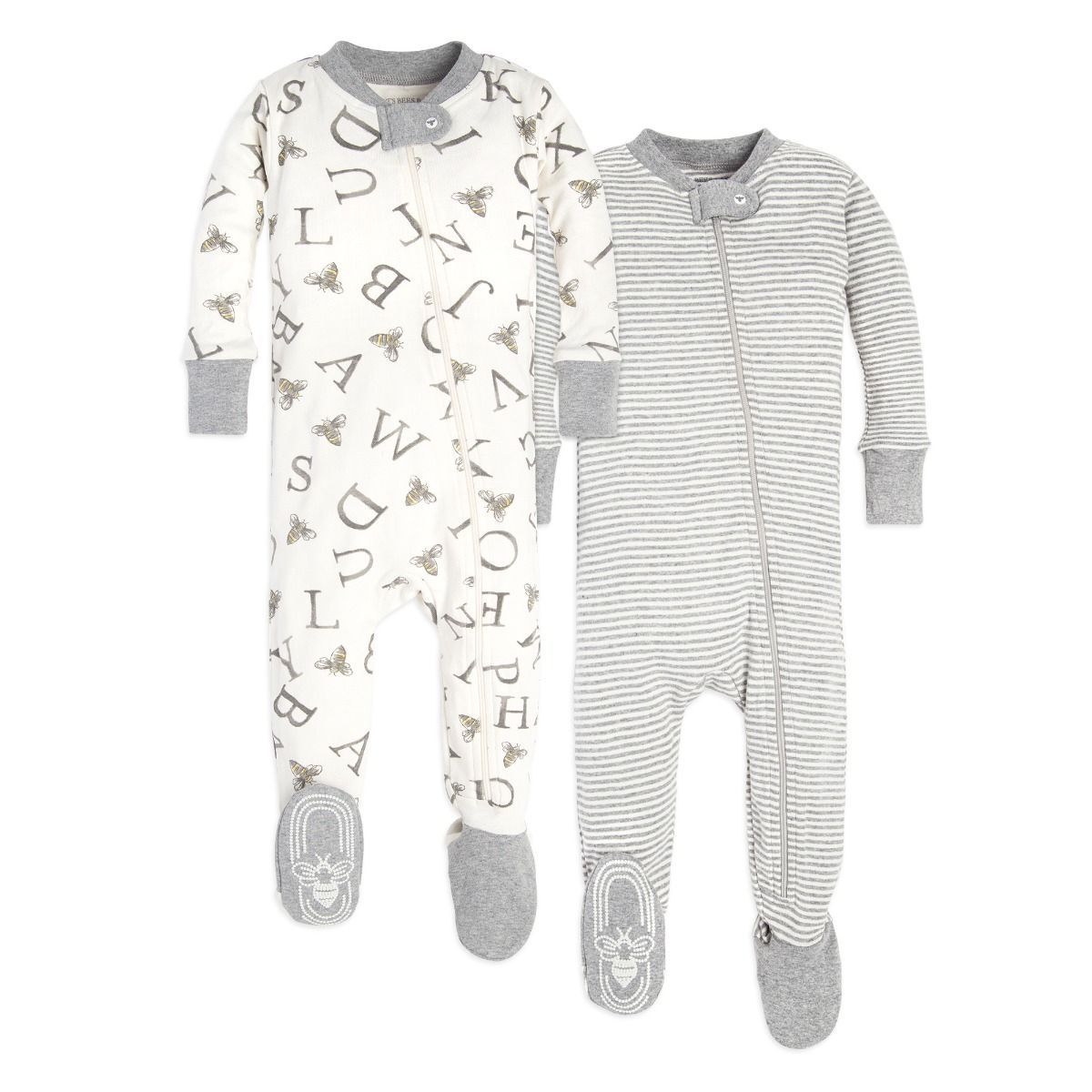 Pick Flower Unisex Long Sleeve Baby Gown Baby Bodysuit Unionsuit Footed Pajamas Romper Jumpsuit